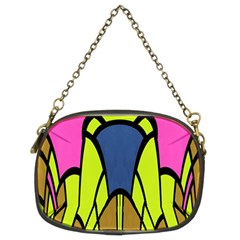 Distorted Symmetrical Shapes Chain Purse (two Sides)
