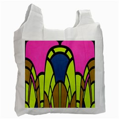Distorted Symmetrical Shapes Recycle Bag (one Side)