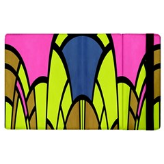 Distorted Symmetrical Shapes Apple Ipad 2 Flip Case