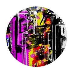 Abstract City View Ornament (round)