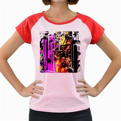 Abstract City View Women s Cap Sleeve T-Shirt
