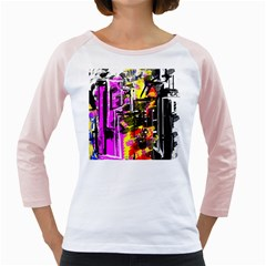 Abstract City View Girly Raglans