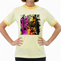 Abstract City View Women s Fitted Ringer T Shirts