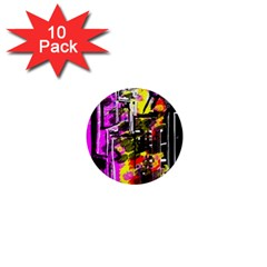 Abstract City View 1  Mini Buttons (10 Pack)