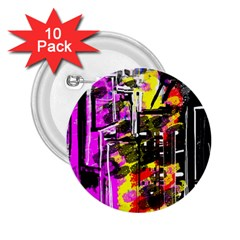 Abstract City View 2 25  Buttons (10 Pack)