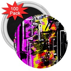 Abstract City View 3  Magnets (100 Pack)