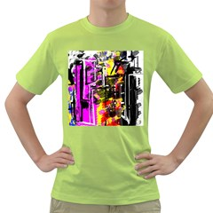 Abstract City View Green T-Shirt