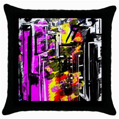 Abstract City View Throw Pillow Cases (Black)
