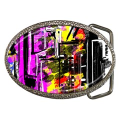Abstract City View Belt Buckles