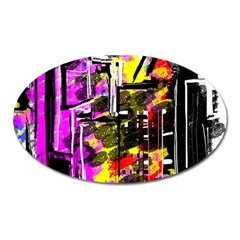 Abstract City View Oval Magnet