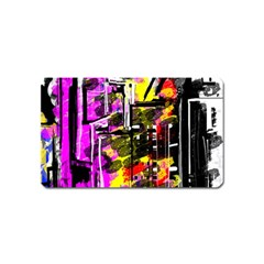 Abstract City View Magnet (name Card)