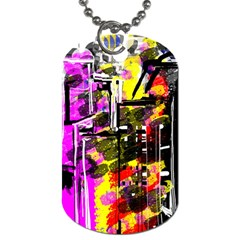 Abstract City View Dog Tag (two Sides)
