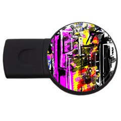 Abstract City View USB Flash Drive Round (2 GB)