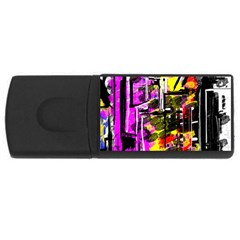 Abstract City View USB Flash Drive Rectangular (1 GB)