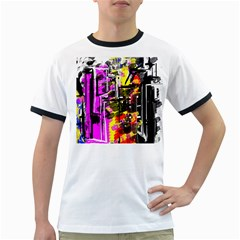 Abstract City View Ringer T-Shirts