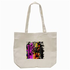 Abstract City View Tote Bag (cream)