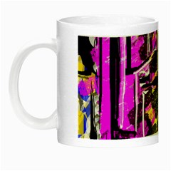 Abstract City View Night Luminous Mugs