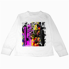 Abstract City View Kids Long Sleeve T-Shirts