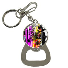Abstract City View Bottle Opener Key Chains
