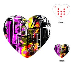 Abstract City View Playing Cards (Heart)