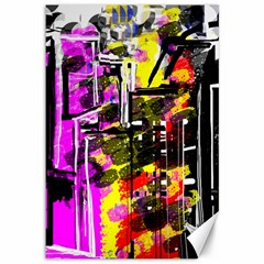Abstract City View Canvas 12  X 18