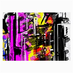 Abstract City View Large Glasses Cloth