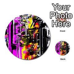 Abstract City View Multi-purpose Cards (Round)