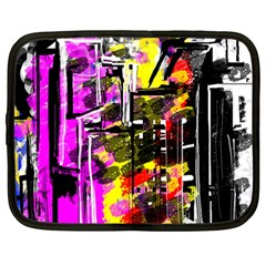 Abstract City View Netbook Case (large)