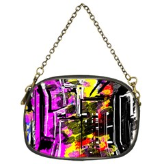 Abstract City View Chain Purses (One Side)