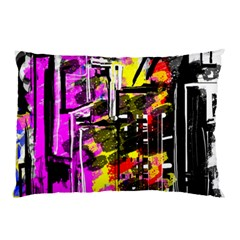 Abstract City View Pillow Cases