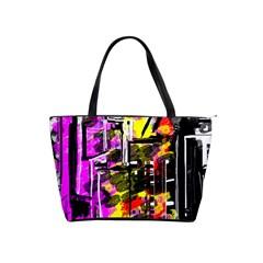 Abstract City View Shoulder Handbags