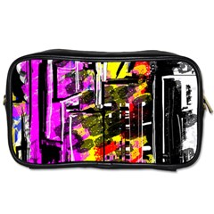 Abstract City View Toiletries Bags 2 Side