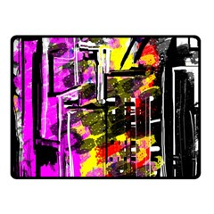 Abstract City View Fleece Blanket (Small)