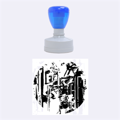Abstract City View Rubber Round Stamps (Medium)