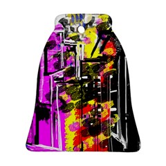 Abstract City View Bell Ornament (2 Sides)