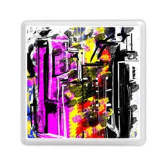 Abstract City View Memory Card Reader (Square)