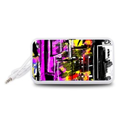 Abstract City View Portable Speaker (White)