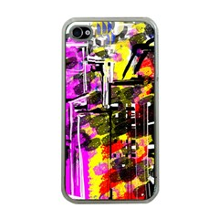 Abstract City View Apple Iphone 4 Case (clear)