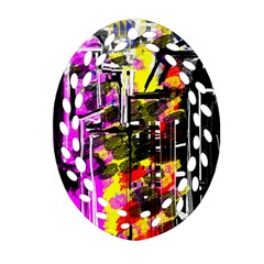 Abstract City View Ornament (Oval Filigree)