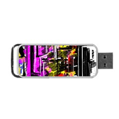 Abstract City View Portable USB Flash (Two Sides)