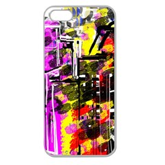 Abstract City View Apple Seamless Iphone 5 Case (clear)