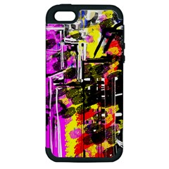 Abstract City View Apple Iphone 5 Hardshell Case (pc+silicone)