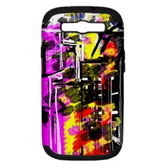 Abstract City View Samsung Galaxy S III Hardshell Case (PC+Silicone)
