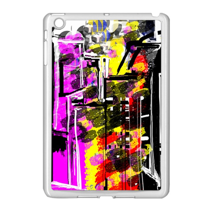 Abstract City View Apple iPad Mini Case (White)