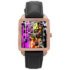 Abstract City View Rose Gold Watches