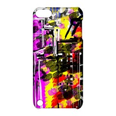 Abstract City View Apple iPod Touch 5 Hardshell Case with Stand