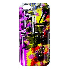 Abstract City View Apple Iphone 5 Premium Hardshell Case