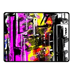 Abstract City View Double Sided Fleece Blanket (Small)