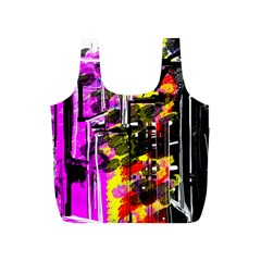 Abstract City View Full Print Recycle Bags (S)