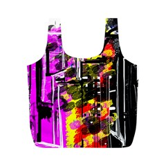 Abstract City View Full Print Recycle Bags (m)